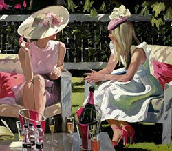 Ascot Elegance by Sherree Valentine Daines - Limited Edition Canvas on Board sized 20x17 inches. Available from Whitewall Galleries