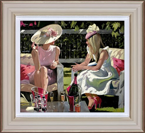 Ascot Elegance by Sherree Valentine Daines - Framed Limited Edition Canvas on Board