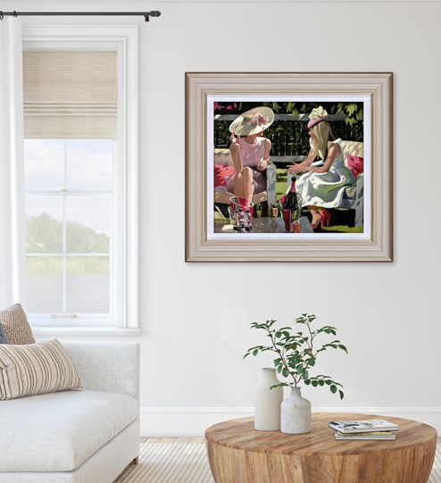 Ascot Elegance by Sherree Valentine Daines - Limited Edition Canvas on Board wall setting