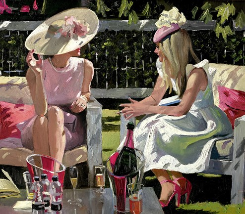 Ascot Elegance by Sherree Valentine Daines - Limited Edition Canvas on Board